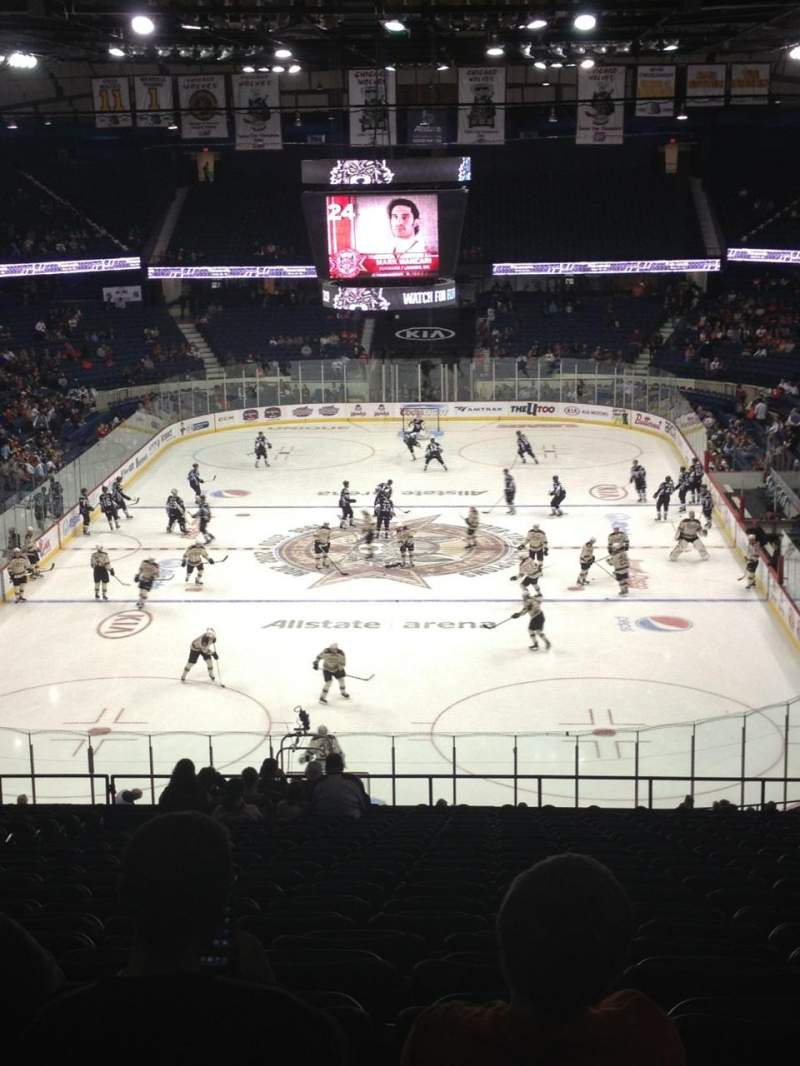 Seating view for Allstate Arena Section 214 Row W Seat 18