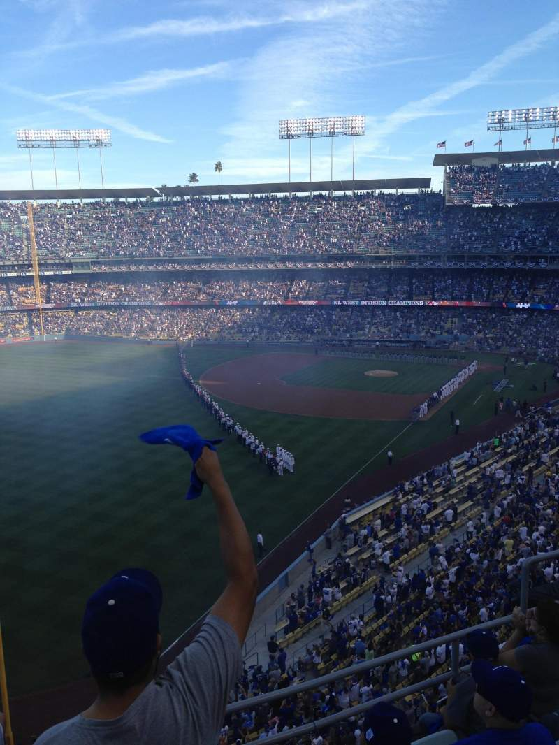 Seating view for Dodger Stadium Section 51RS Row E Seat 1
