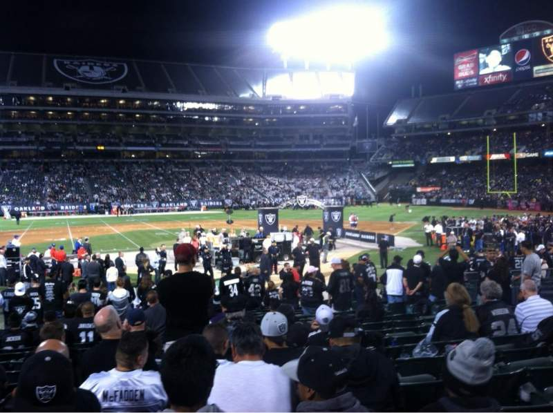 Seating view for Oakland Alameda Coliseum Section 118 Row 18 Seat 15