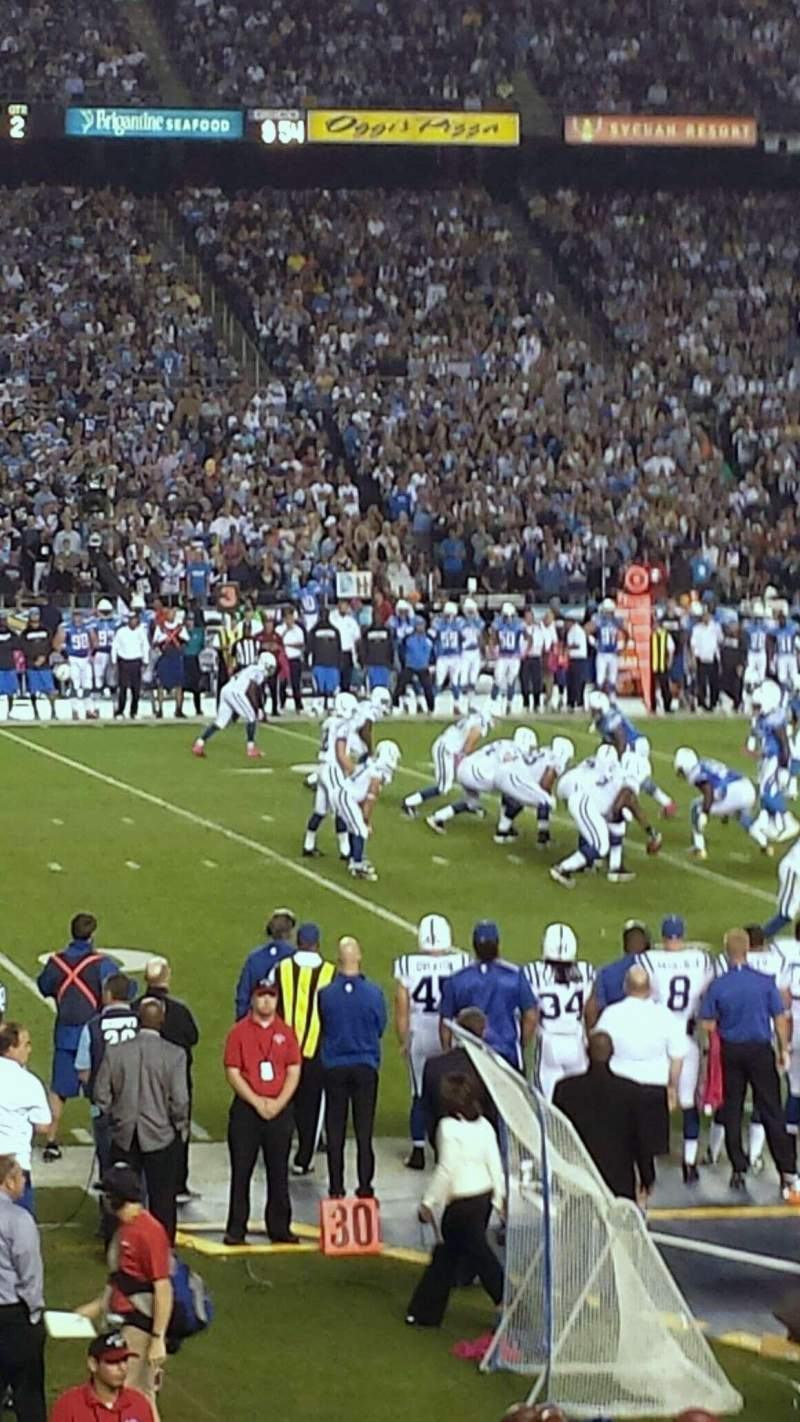 Seating view for Qualcomm Stadium Section F3 Row 22 Seat 14