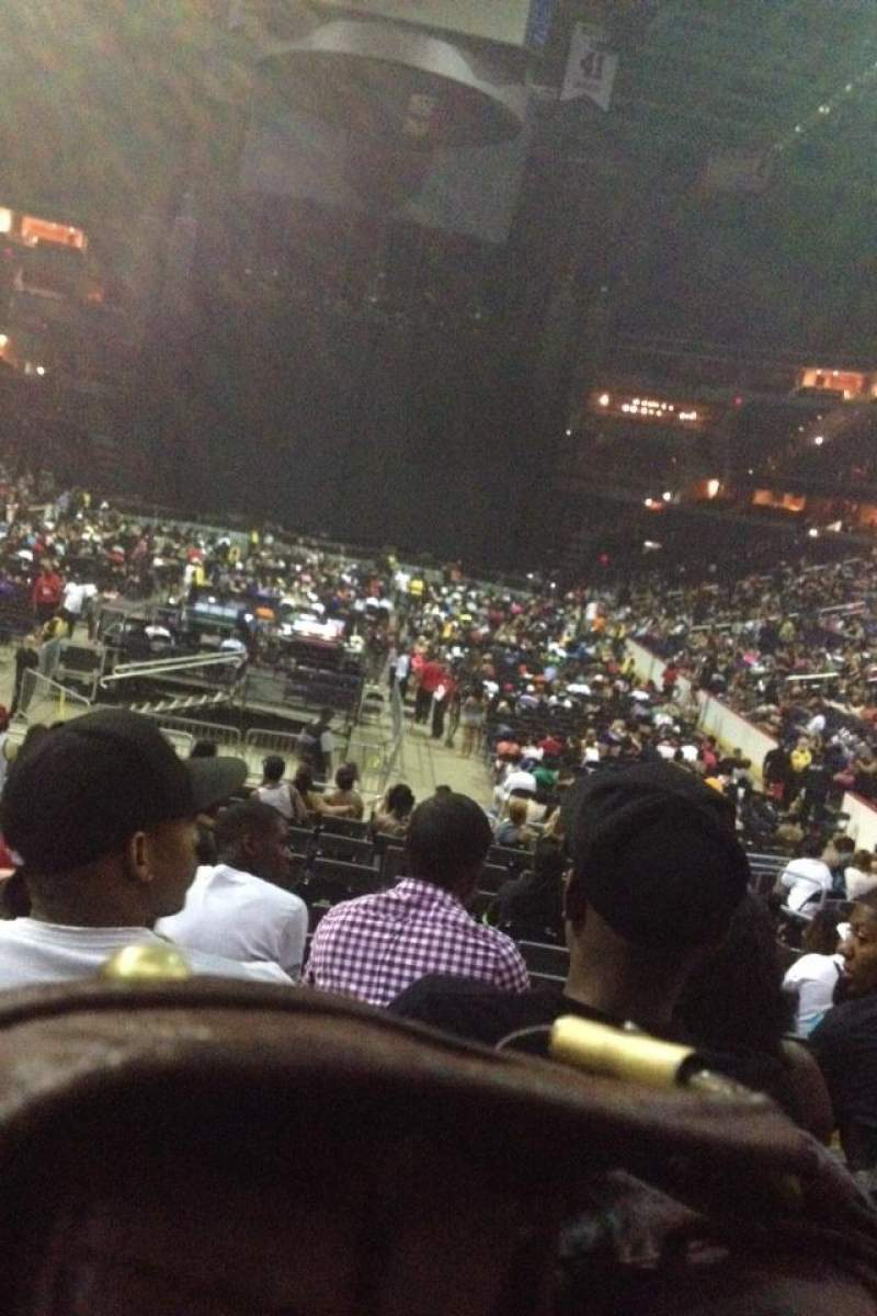 Seating view for Capital One Arena Section 106 Row R Seat 3