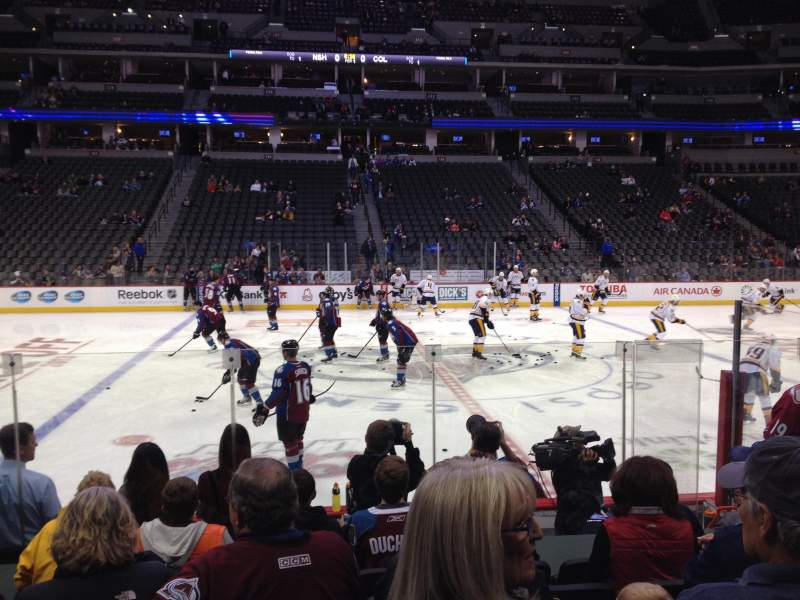 Seating view for Pepsi Center Section 102 Row 8 Seat 5,6