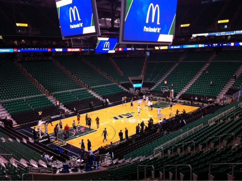 Seating view for Vivint Smart Home Arena Section 10 Row 26 Seat 8
