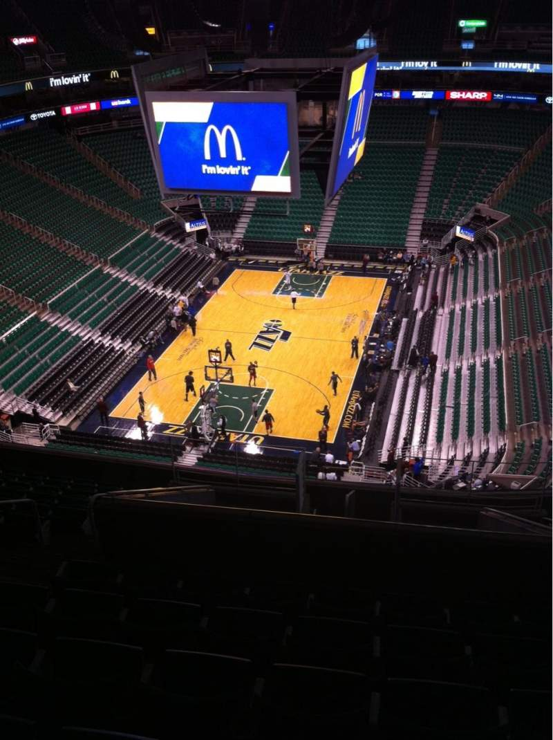 Seating view for Vivint Smart Home Arena Section 120 Row 13 Seat 4