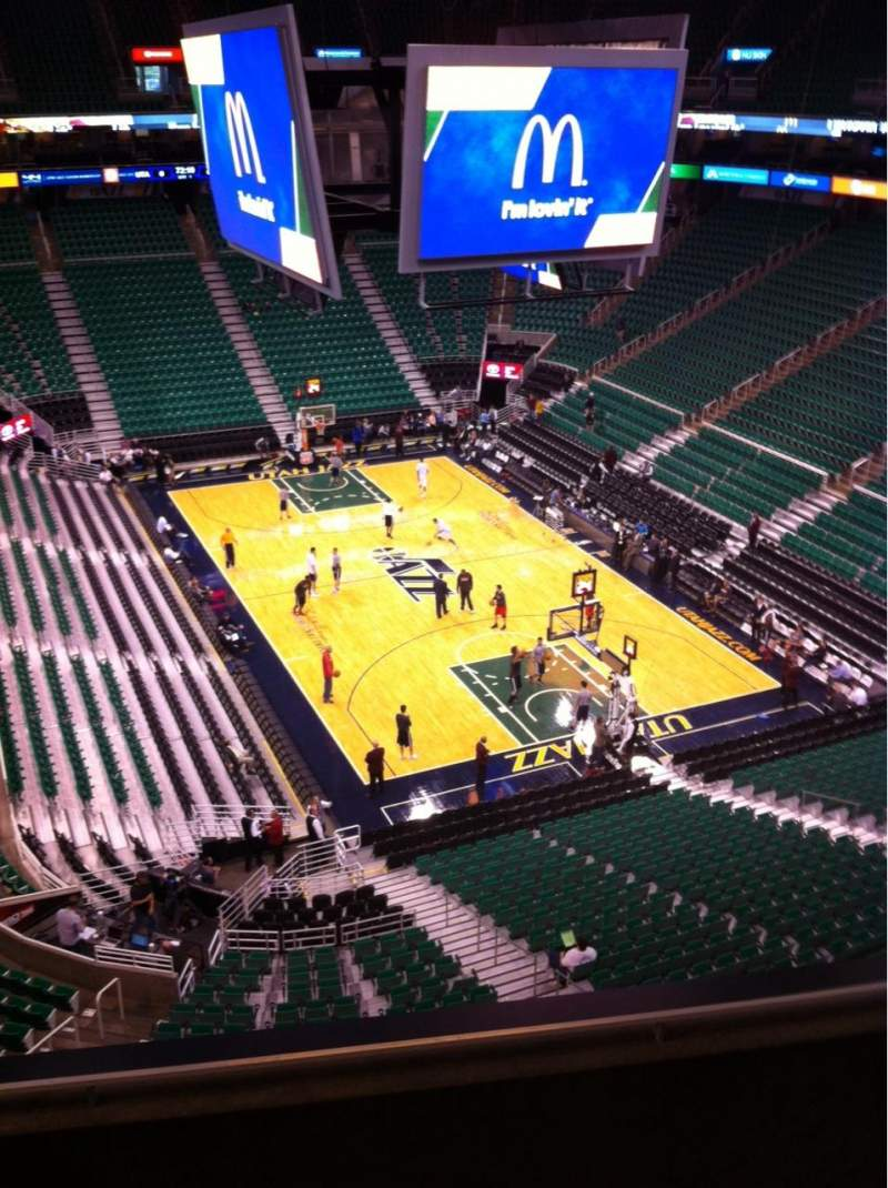 Seating view for Vivint Smart Home Arena Section 125 Row 3 Seat 3