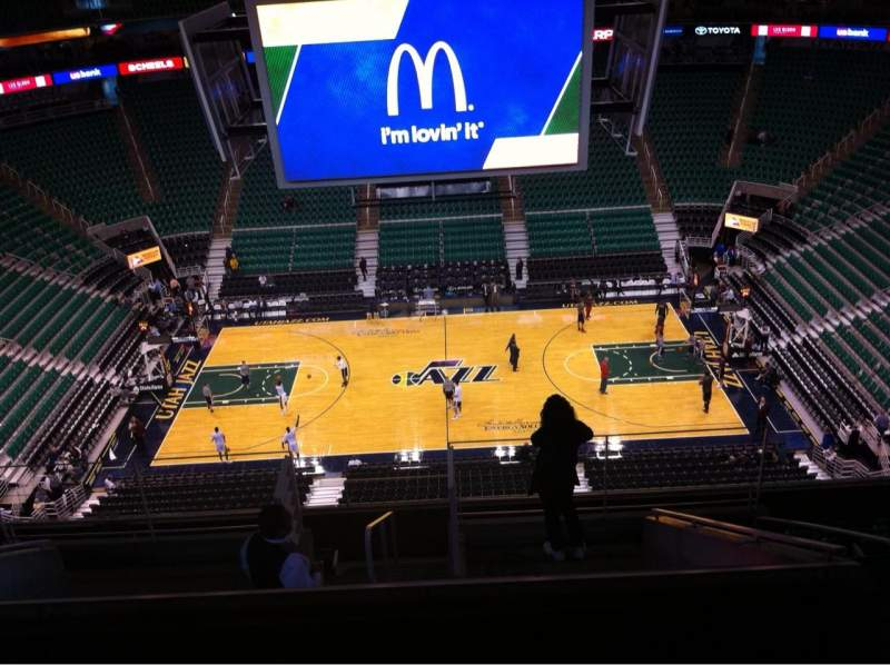 Seating view for Vivint Smart Home Arena Section 122 Row 10 Seat 3