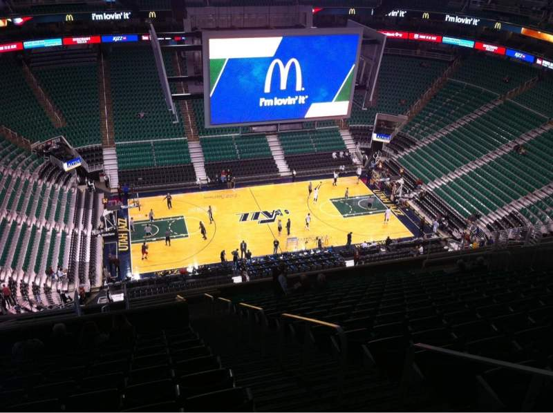 Seating view for Vivint Smart Home Arena Section 114 Row 19 Seat 2