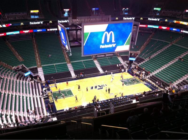 Seating view for Vivint Smart Home Arena Section 115 Row 16 Seat 3