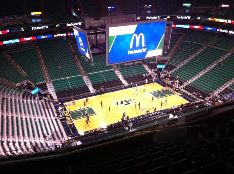 Seating view for Vivint Smart Home Arena Section 115 Row 16 Seat 10