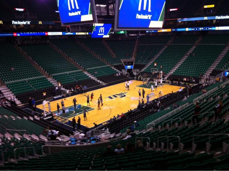 Seating view for Vivint Smart Home Arena Section 10 Row 29 Seat 11