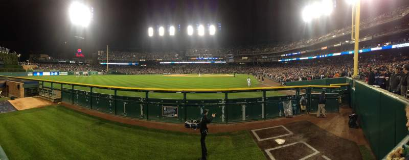 Seating view for Comerica Park Section 147 Row A Seat 7