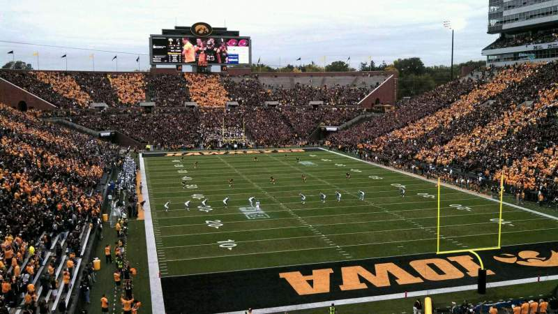 Seating view for Kinnick Stadium Section 137 Row 40 Seat 5