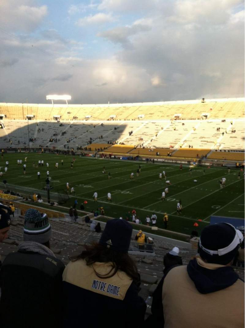 Seating view for Notre Dame Stadium Section 23 Row 49 Seat 29