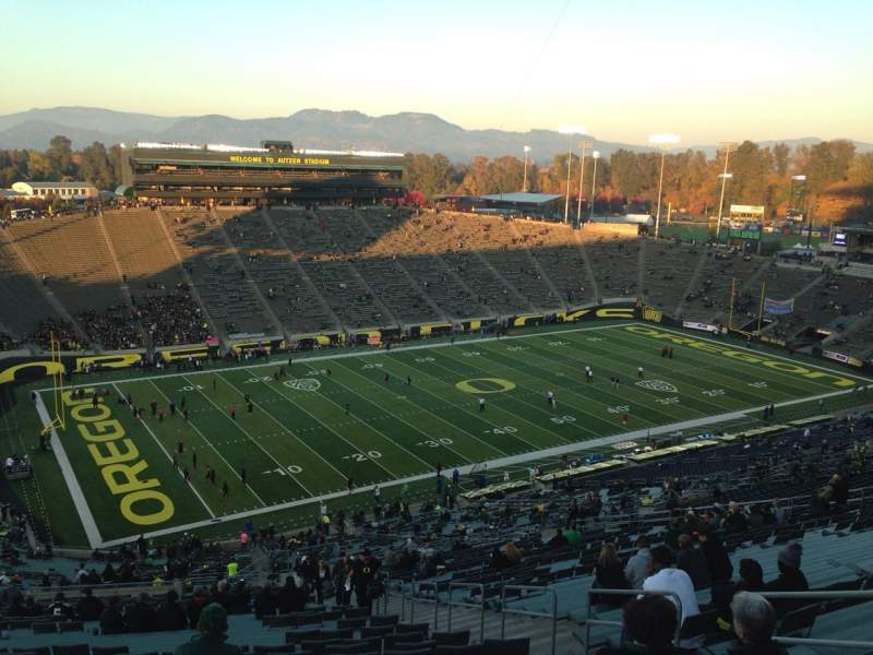 Seating view for Autzen Stadium Section 36 Row 83 Seat 5
