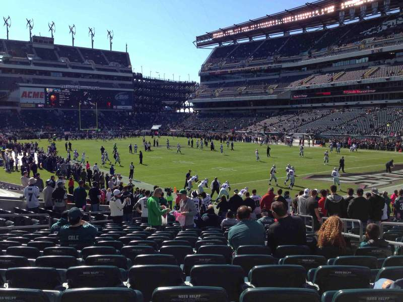Seating view for Lincoln Financial Field Section 126 Row 19 Seat 5