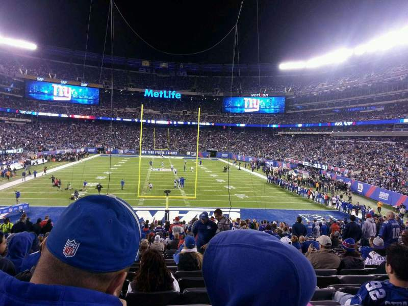 Seating view for MetLife Stadium Section 101 Row 27 Seat 12