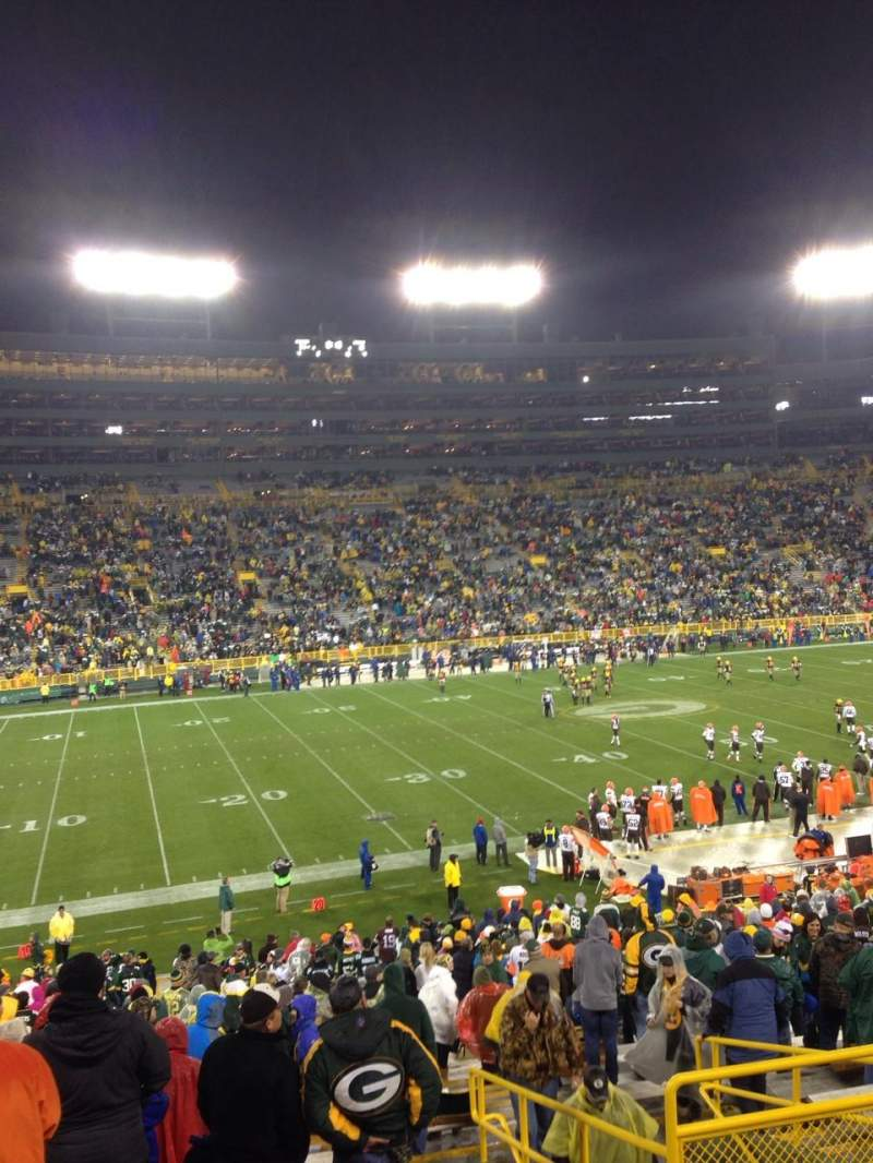 Seating view for Lambeau Field Section 125 Row 38 Seat 6