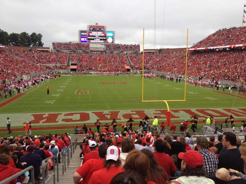 Seating view for Carter-Finley Stadium Section 115 Row CC Seat 21
