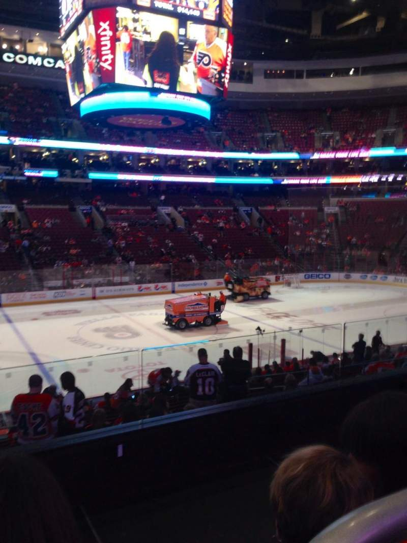 Seating view for Wells Fargo Center Section 124 Row 21 Seat 3
