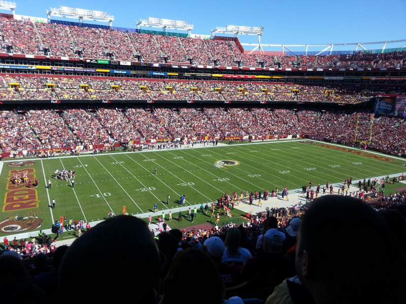 Seating view for FedEx Field Section 304 Row 17 Seat 15