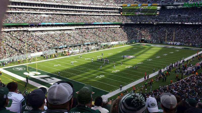 Seating view for MetLife Stadium Section 246a Row 7 Seat 6
