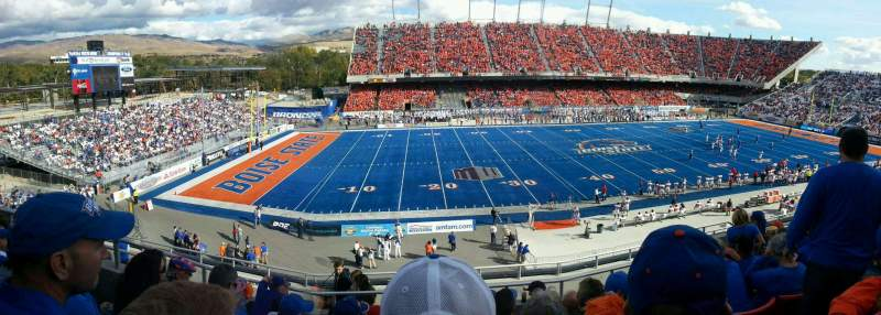 Albertsons Stadium, section: 110, row: G, seat: 10