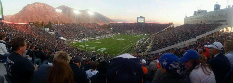 Seating view for LaVell Edwards Stadium Section 122 Row 21 Seat 35
