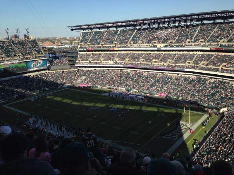 Seating view for Lincoln Financial Field Section 206 Row 27