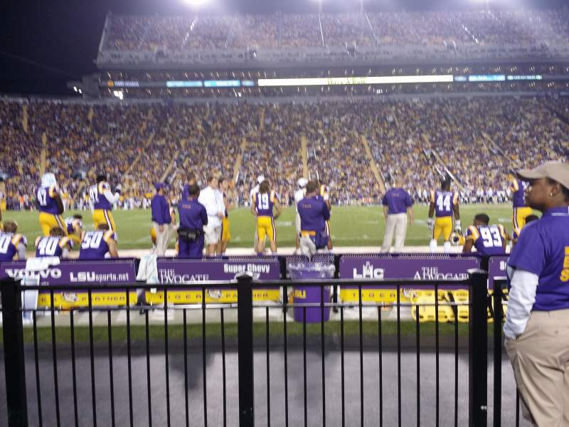 Seating view for Tiger Stadium Section 104 Row 2 Seat 2 and 3