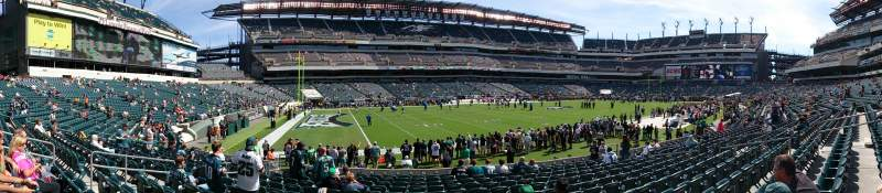 Seating view for Lincoln Financial Field Section 135 Row 13 Seat 15