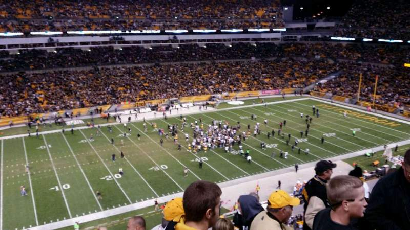 Seating view for Heinz Field Section 208