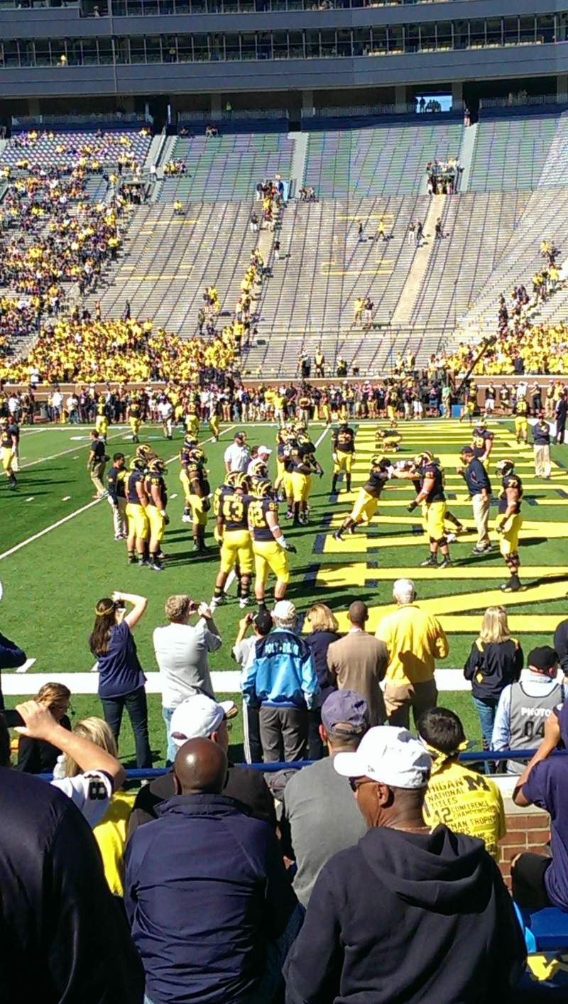 Seating view for Michigan Stadium Section 40 Row 7 Seat 7,8