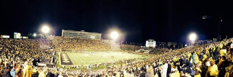 Seating view for Faurot Field Section 102