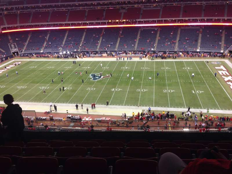 Seating view for NRG Stadium Section 506 Row M Seat 23