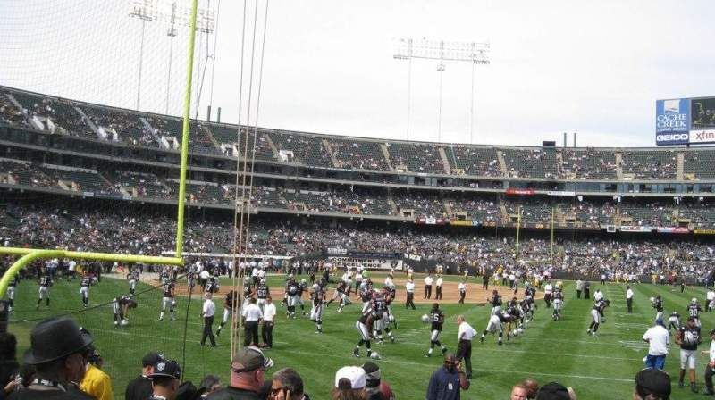 Seating view for Oakland Alameda Coliseum Section 105 Row 8 Seat 5