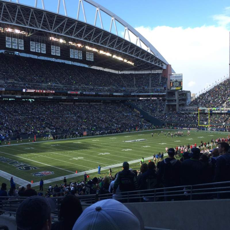 Seating view for CenturyLink Field Section 116 Row KK Seat 4