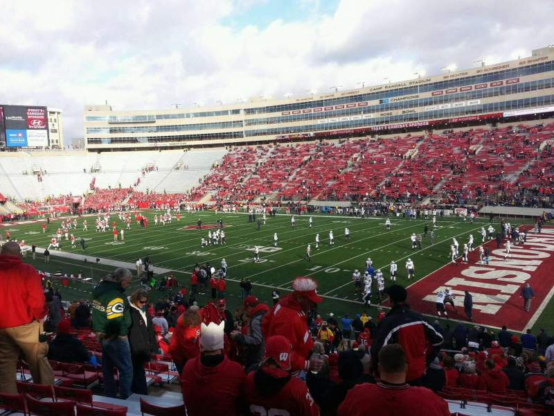 Seating view for Camp Randall Stadium Section a Row 38 Seat 31