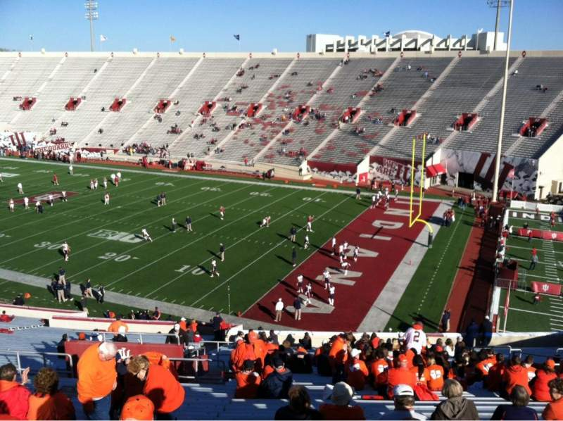 Seating view for Memorial Stadium (Indiana) Section 2 Row 56 Seat 109