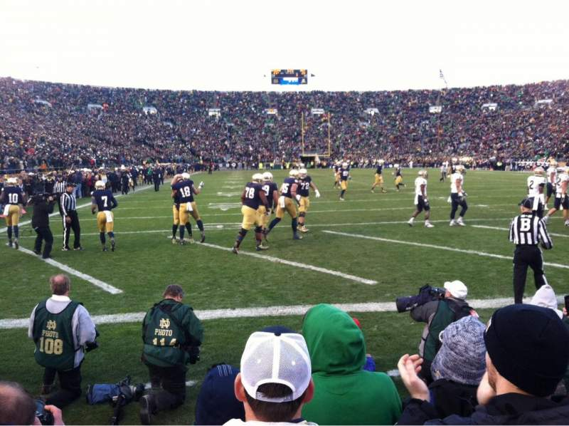 Seating view for Notre Dame Stadium Section FL20 Row F Seat 5