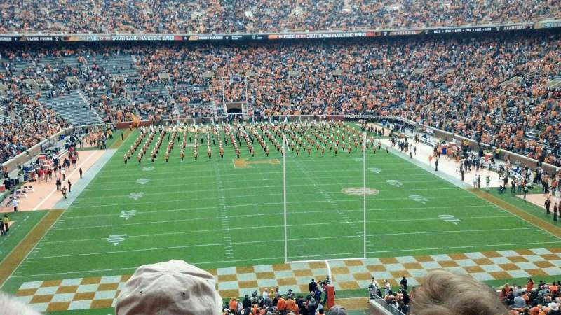 Seating view for Neyland Stadium Section Y9 Row 40 Seat 1