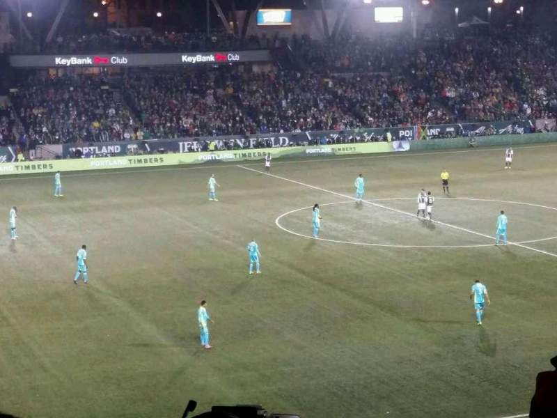 Seating view for Providence Park Section 215 Row B Seat 2