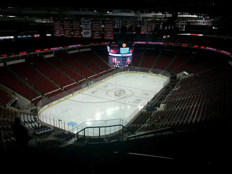 Seating view for PNC Arena Section 311 Row J Seat 1