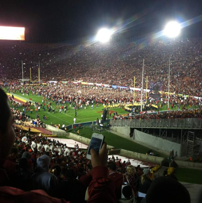 Seating view for Los Angeles Memorial Coliseum Section 1 Row 55 Seat 119