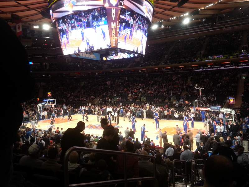 Seating view for Madison Square Garden Section 109 Row 13 Seat 1