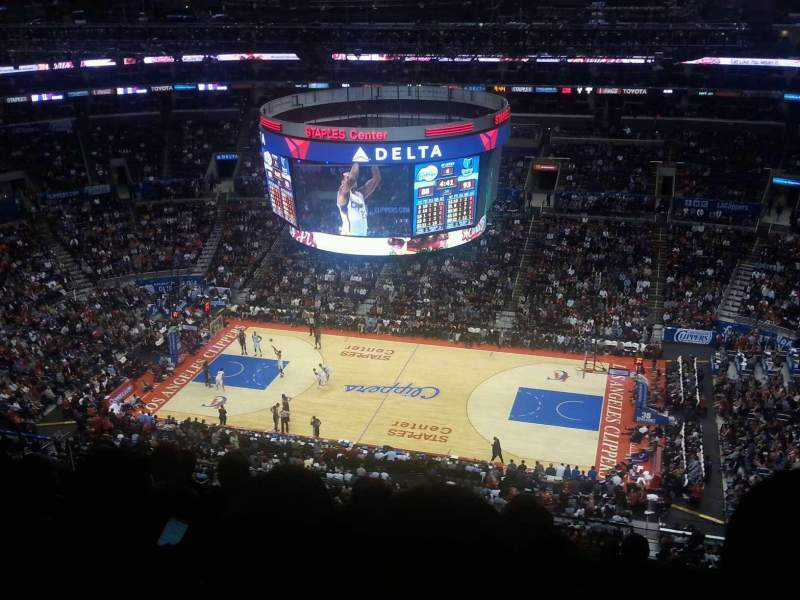 Seating view for Staples Center Section 334 Row 12 Seat 5