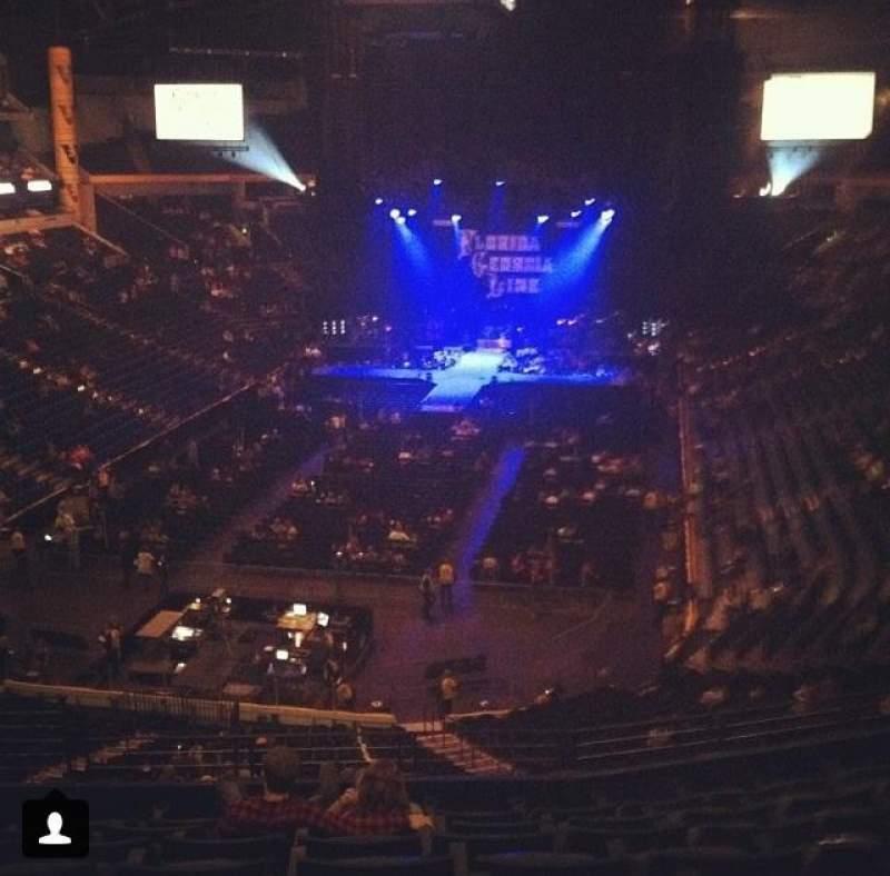 Bridgestone Arena, section: 203, row: G, seat: 4
