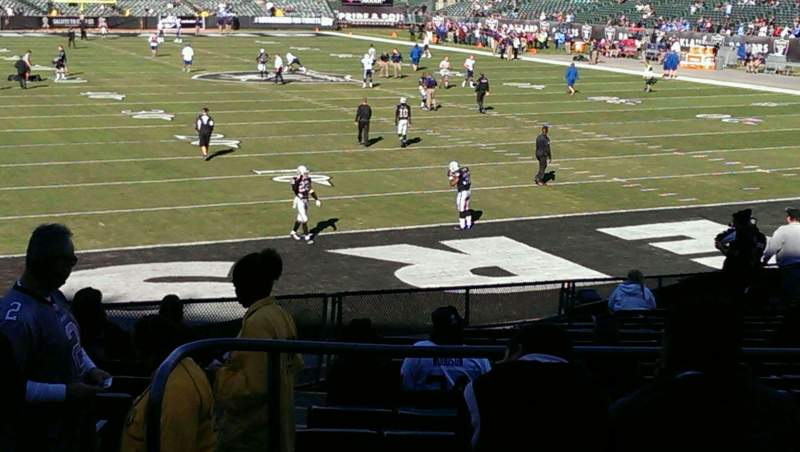 Seating view for Oakland Alameda Coliseum Section 108 Row 26 Seat 17
