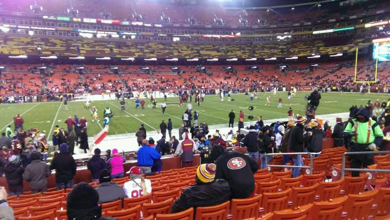 Seating view for FedEx Field Section 102 Row 12