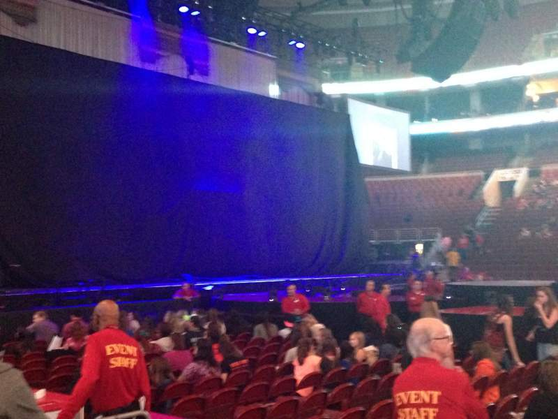 Seating view for Wells Fargo Center Section 124 Row 1 Seat 10