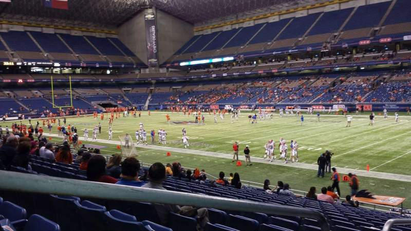 Seating view for Alamodome Section 107 Row 17 Seat 12